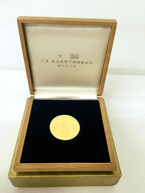 天皇皇后両陛下訪米記念k24金貨、pt1000コインをお買取させていただきました!