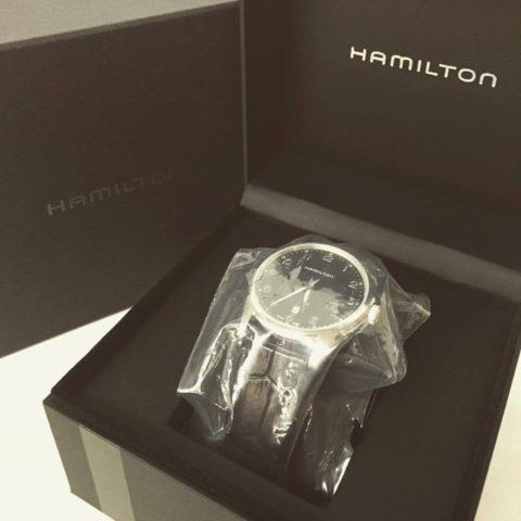 ハミルトン ジャズマスターシンラインH385111未使用品を買取させていただきました(^o^)