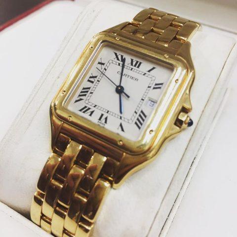 トレスト鶴見西口店にてカルティエ パンテール金無垢腕時計をお買取させていただきました!