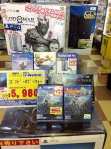 PS4 ゴッド・オブ・ウォー 買取いたしました!