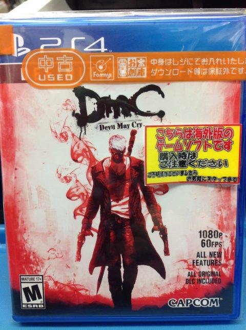 PS4版のDMC Devil May Cry(北米版)が来ました!