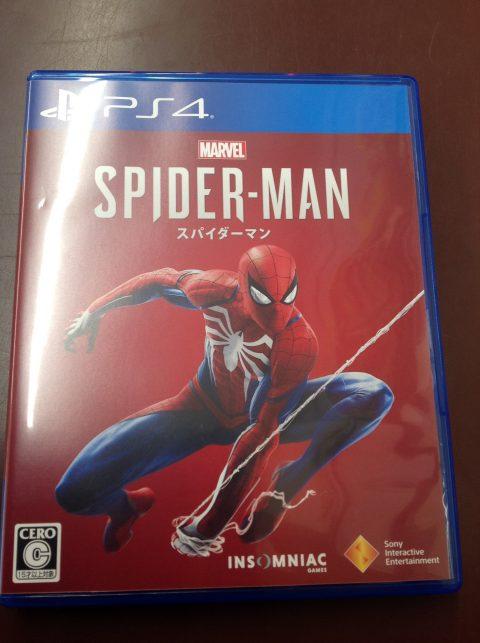 PS4ソフト「スパイダーマン」買取しました!