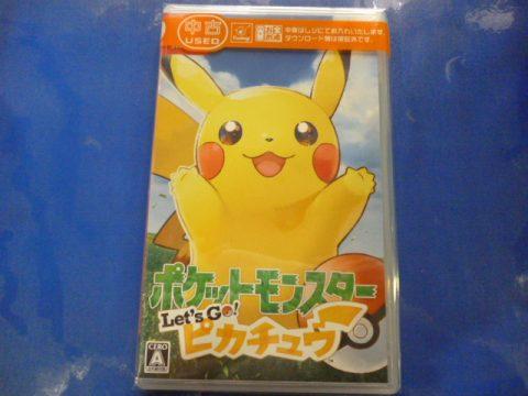 【買取情報】Nintendo Switch『ポケットモンスター Let's Go! ピカチュウ』買取しました♪