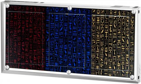 Yusiko 3連 マグネットローダー 35PT カードディスプレイケース トレーディングカード収納 保管 トレカ展示ケース 傷 汚れ防止 交換できる背景紙付 (薄型,3枚収納)