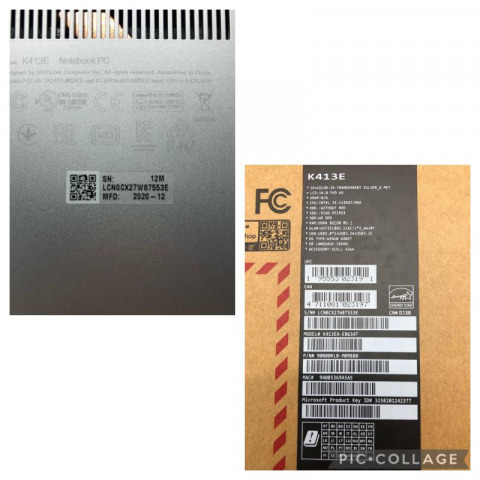ASUS ノートパソコン Vivo book K413E Windows10HOME 8GB 買取しました!