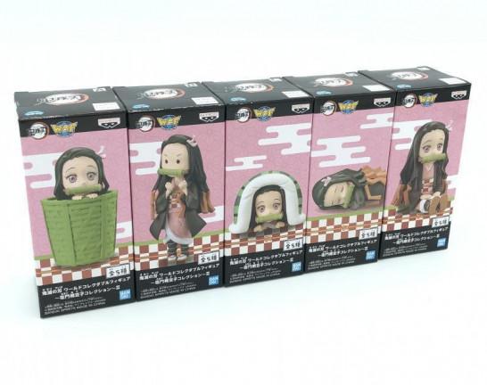 ワールドコレクタブルフィギュア 竈門禰豆子コレクションⅡ 全5種セット 鬼滅の刃 買取しました!